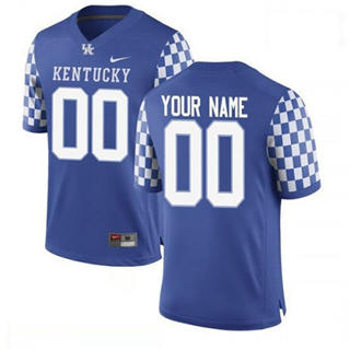 Men's Kentucky Wildcats Custom Name Number Navy College Football Jersey
