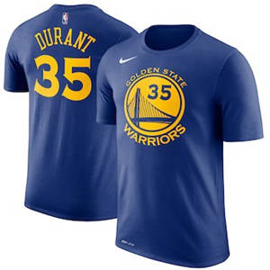 Men's Kevin Durant Golden State Warriors  Name & Number Performance T-Shirt – Royal