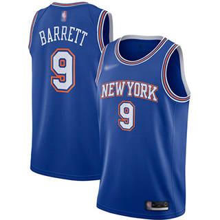 Men's Knicks #9 R.J. Barrett Blue Basketball Swingman Statement Edition 2019-2020 Jersey