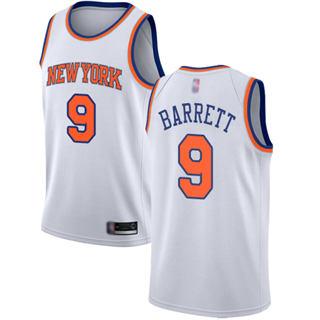 Men's Knicks #9 R.J. Barrett White Basketball Swingman Association Edition Jersey