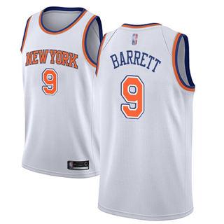 Men's Knicks #9 R.J. Barrett White Basketball Swingman Statement Edition Jersey