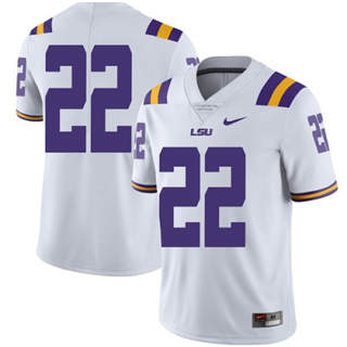 Men's LSU Tigers #22 Clyde Edwards-Helaire Jersey White No name NCAA