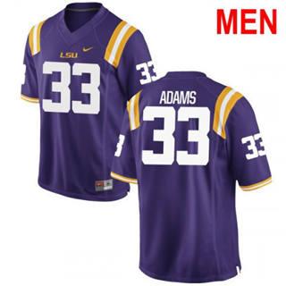 Men's LSU Tigers #33 Jamal Adams Purple 2019 NCAA Football Jersey