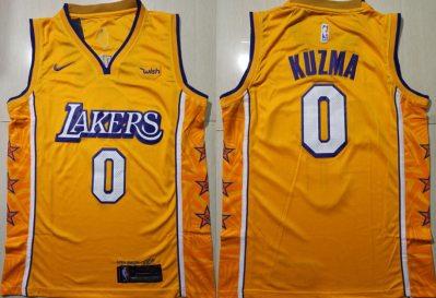 Men's Lakers #0 Kyle Kuzma Gold 2019-2020 City Edition Swingman Basketball Jersey