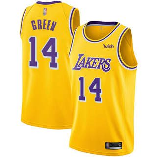 Men's Lakers #14 Danny Green Gold Basketball Swingman Icon Edition Jersey