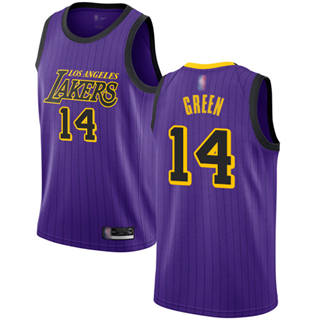 Men's Lakers #14 Danny Green Purple Basketball Swingman City Edition 2018-19 Jersey