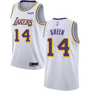 Men's Lakers #14 Danny Green White Basketball Swingman Association Edition Jersey