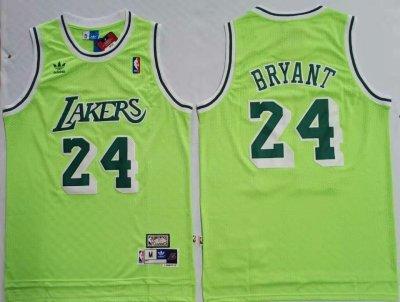 Men's Lakers #24 Kobe Bryant Green Hardwood Classics Mesh Basketball Jersey