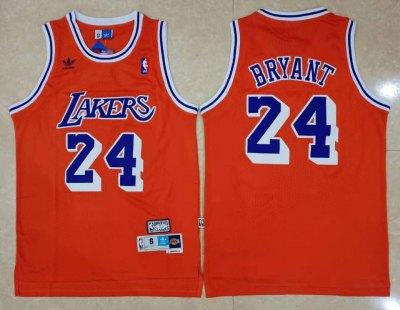 Men's Lakers #24 Kobe Bryant Red Hardwood Classics Basketball Jersey