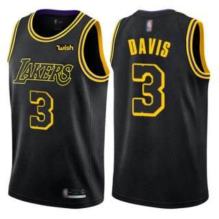 Men's Lakers #3 Anthony Davis Black Basketball Swingman City Edition Jersey
