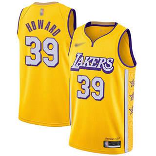 Men's Lakers #39 Dwight Howard Gold Basketball Swingman City Edition 2019-2020 Jersey