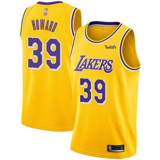 Men's Lakers #39 Dwight Howard Gold Basketball Swingman Icon Edition Jersey