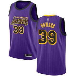 Men's Lakers #39 Dwight Howard Purple Basketball Swingman City Edition 2018-19 Jersey