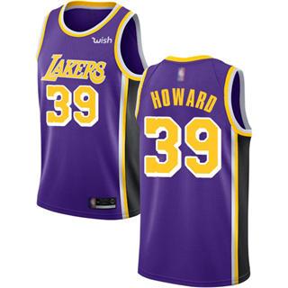 Men's Lakers #39 Dwight Howard Purple Basketball Swingman Statement Edition Jersey