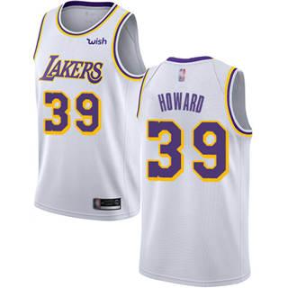 Men's Lakers #39 Dwight Howard White Basketball Swingman Association Edition Jersey