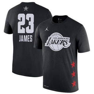 Men's Lakers 23 Lebron James Black 2019 Basketball All-Star Game T-Shirt