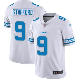 Men's Lions #9 Matthew Stafford White Stitched Football Limited Team Logo Fashion Jersey