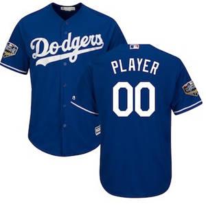 Men's Los Angeles Dodgers Majestic Royal 2018 World Series Cool Base Custom Jersey