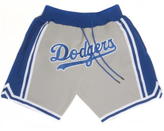 Men's Los Angeles Dodgers Shorts (Grey) JUST DON By Mitchell & Ness