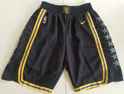 Men's Los Angeles Lakers  Black City Edition Swingman Performance Shorts