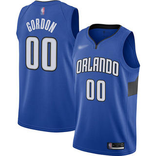 Men's Magic #00 Aaron Gordon Blue Basketball Swingman Statement Edition 2019-2020 Jersey
