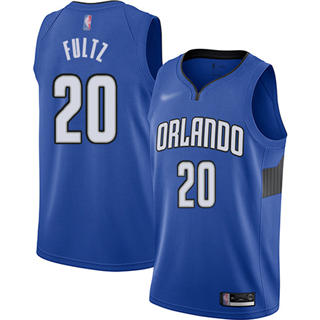 Men's Magic #20 Markelle Fultz Blue Basketball Swingman Statement Edition 2019-2020 Jersey