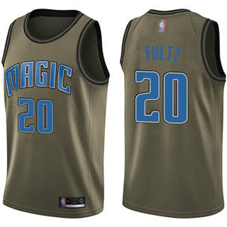 Men's Magic #20 Markelle Fultz Green Basketball Swingman Salute to Service Jersey