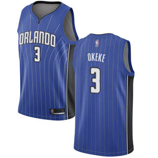 Men's Magic #3 Chuma Okeke Royal Basketball Swingman Icon Edition Jersey