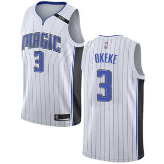 Men's Magic #3 Chuma Okeke White Basketball Swingman Association Edition Jersey