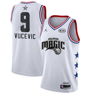 Men's Magic #9 Nikola Vucevic White Basketball Jordan Swingman 2019 All-Star Game Jersey