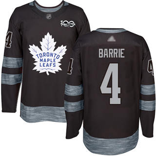 Men's Maple Leafs #4 Tyson Barrie Black 1917-2017 100th Anniversary Stitched Hockey Jersey