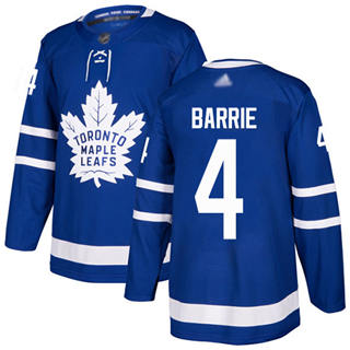 Men's Maple Leafs #4 Tyson Barrie Blue Home  Stitched Hockey Jersey