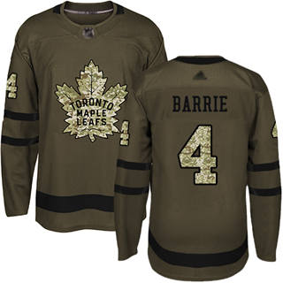 Men's Maple Leafs #4 Tyson Barrie Green Salute to Service Stitched Hockey Jersey