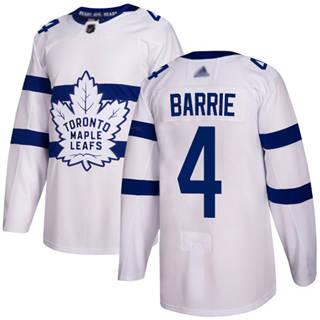 Men's Maple Leafs #4 Tyson Barrie White  2018 Stadium Series Stitched Hockey Jersey