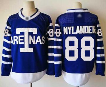 Men's Maple Leafs #88 William Nylander Blue Authentic 1918 Arenas Throwback Stitched Hockey Jersey