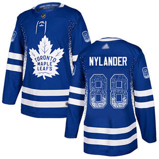 Men's Maple Leafs #88 William Nylander Blue Home Authentic Drift Fashion Stitched Hockey Jersey