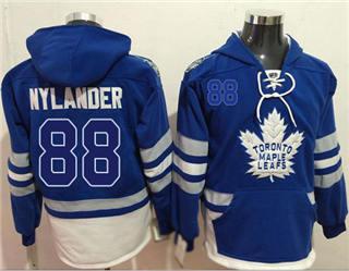 Men's Maple Leafs #88 William Nylander Blue Name & Number Pullover Hockey Hoodie
