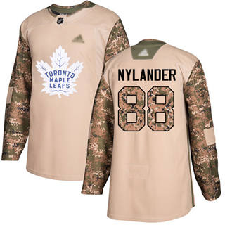 Men's Maple Leafs #88 William Nylander Camo Authentic 2017 Veterans Day Stitched Hockey Jersey