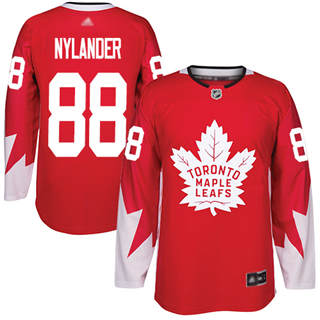 Men's Maple Leafs #88 William Nylander Red Team Canada Authentic Stitched Hockey Jersey