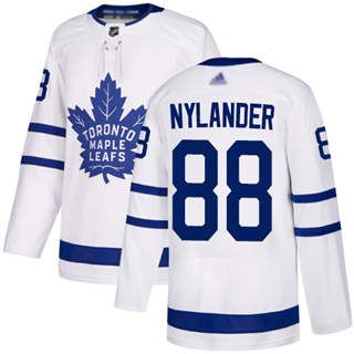 Men's Maple Leafs #88 William Nylander White Road Authentic Stitched Hockey Jersey