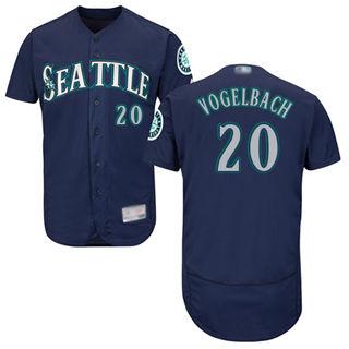 Men's Mariners #20 Dan Vogelbach Navy Blue Flexbase  Collection Stitched Baseball Jersey