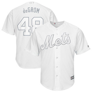 Men's Mets #48 Jacob DeGrom White deGrom Players Weekend Cool Base Stitched Baseball Jersey