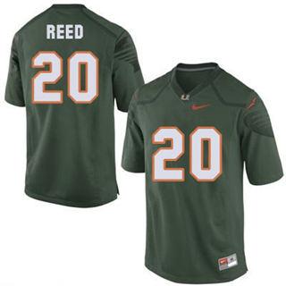 Men's Miami Hurricanes #20 Ed Reed Green NCAA Football Jersey