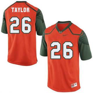 Men's Miami Hurricanes #26 Sean Taylor Orange NCAA Football Jersey