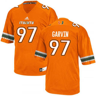 Men's Miami Hurricanes #97 Jonathan Garvin Jersey Orange NCAA 19-20