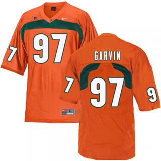 Men's Miami Hurricanes #97 Jonathan Garvin Jersey Sewn NCAA Orange 2019