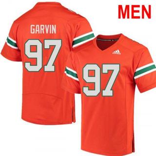 Men's Miami Hurricanes #97 Jonathan Garvin Orange 2019 NCAA Football Jersey