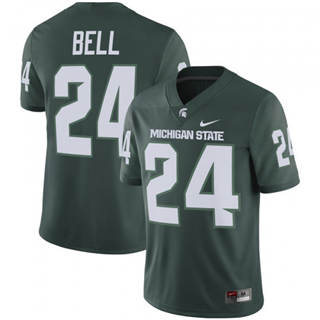 Men's Michigan State Spartans #24 Le'Veon Bell Green Football Jersey