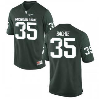 Men's Michigan State Spartans #35 Joe Bachie Jersey Green NCAA 19-20