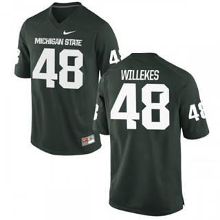 Men's Michigan State Spartans #48 Kenny Willekes Jersey Green NCAA 19-20